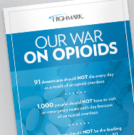A flyer that says Our War on Opioids