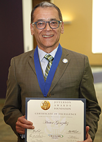 Hector Gonzalez, Jefferson Award Winner
