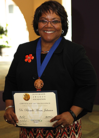 Rhonda Moore Johnson, Jefferson Award Winner