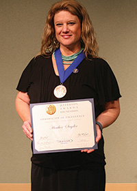 Heather Snyder, Jefferson Award Winner
