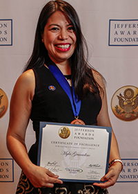 Myla Granadino, Jefferson Award Winner