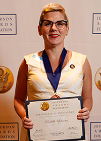 Richelle Lehman, Jefferson Award Winner