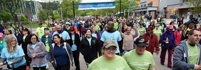 walkers at Walk for a Healthy Community event