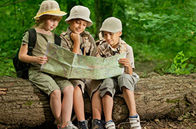 kids at summer camp